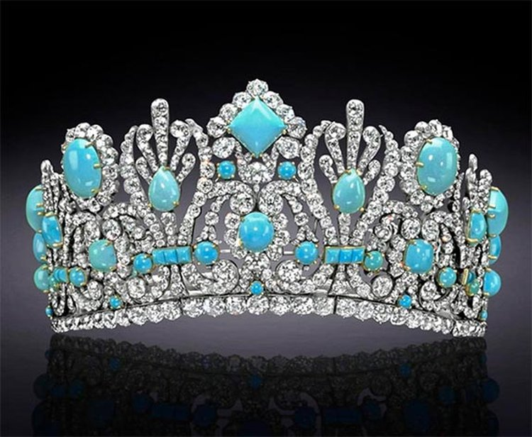Birthstone Feature: 540 Carats of Persian Turquoise Shine in the Empress Marie-Louise Diadem