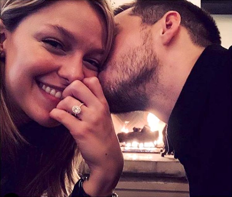 'Supergirl' Melissa Benoist Reveals Her Oval-Shaped Diamond Engagement Ring on Instagram