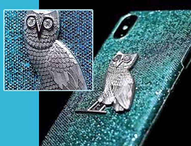 Drake's New $400,000 iPhone X Case Is Set Edge to Edge in Blue Diamonds